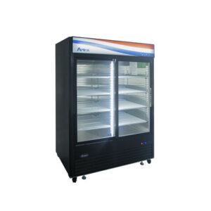 atosa-mcf8727gr-two-door-refrigerated-merchandiser
